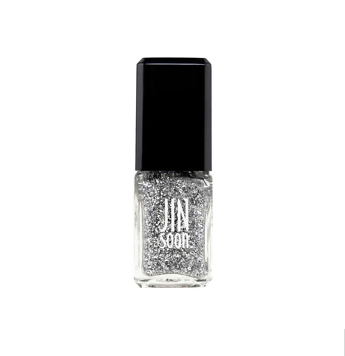 For Holiday 2017 JINsoon Nail Polish includes Glitzy, a silver glitter topper, included in the JINsoon Flapper Collection of three shades.