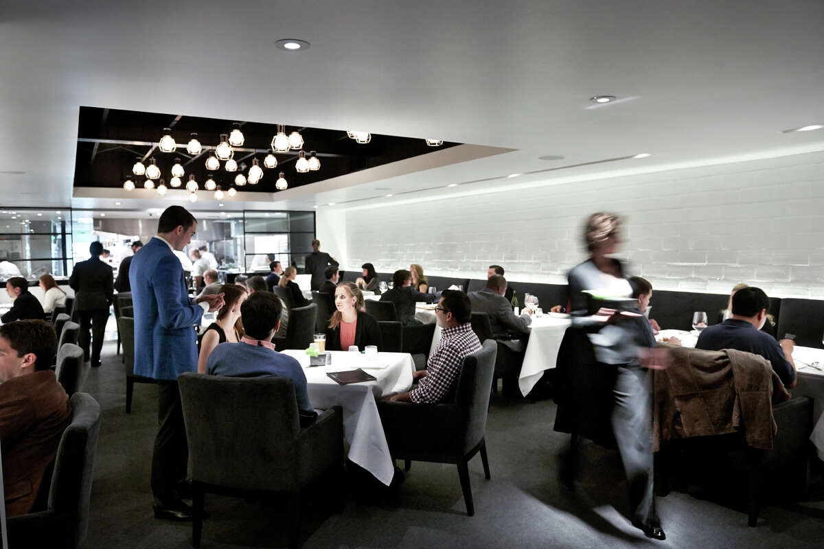The dining room of The Pass, the tasting-menu restaurant from the Pass & Provisions chefs Seth Siegel-Gardner and Terrence Gallivan.