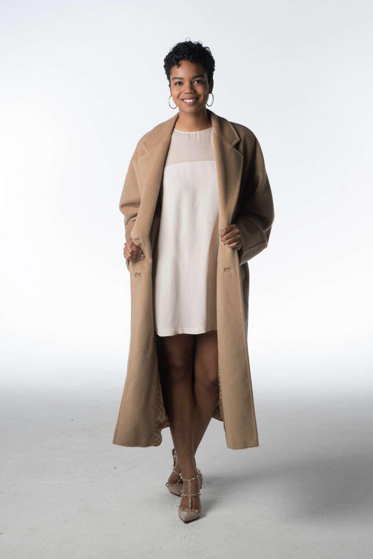 Jailyn Marcel models Max Mara's iconic 101801 coat