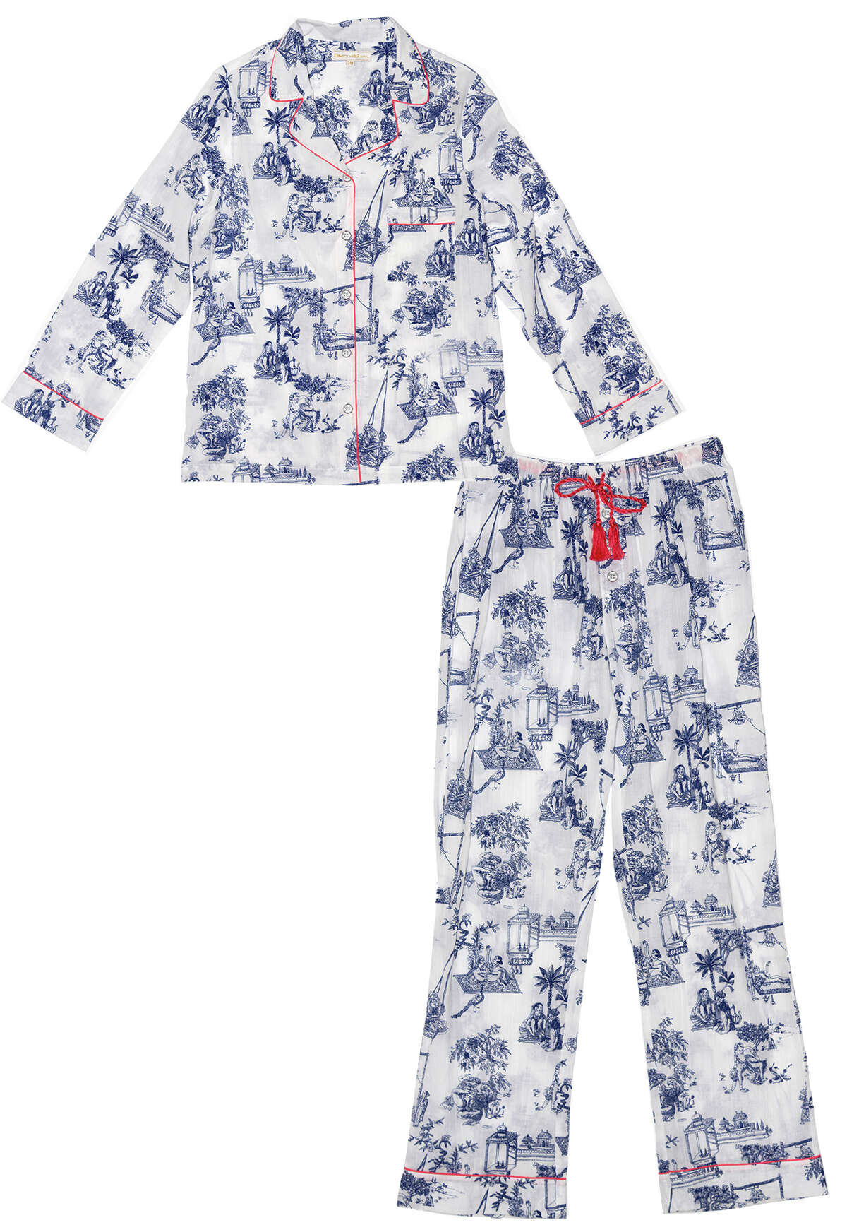 Texas-based Dawson & Hellmann 100% cotton voile Kama Sutra print women?s pajamas; $160 at Kuhl-Linscomb