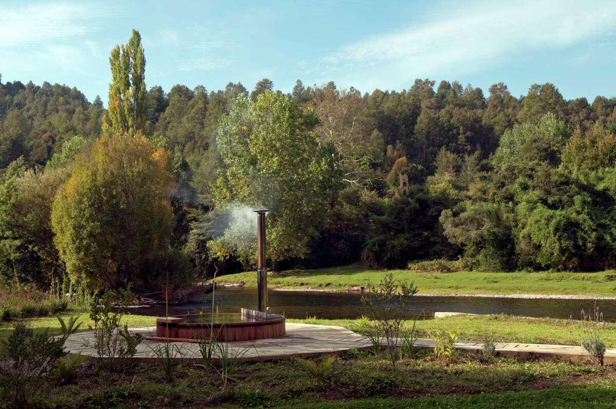 Hot tub at Hacienda Vira Vira in Pucon, Chile