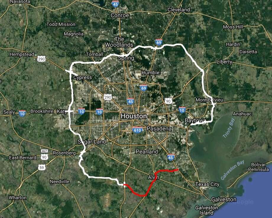 The Texas Department of Transportation is hosting two informational meetings in November regarding Sections H and I of the Grand Parkway (SH 99). These sections impact Liberty and Chambers counties. Photo: Courtesy Map