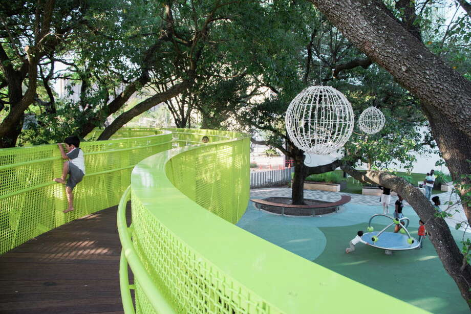 Levy Park in Houston is packed with design elements that are irresistible to children. Photo: Janet Ni