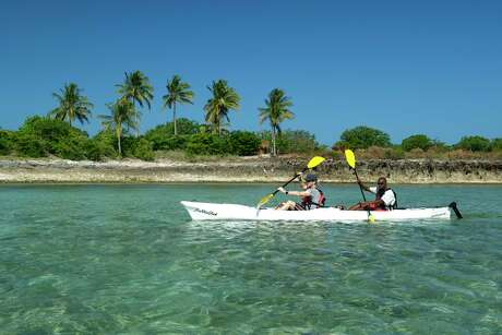 Ibo Island Lodge in Mozambique offers five to 14-day kayak safaris that island hop        around the archipelago supported by a dhow and crew.