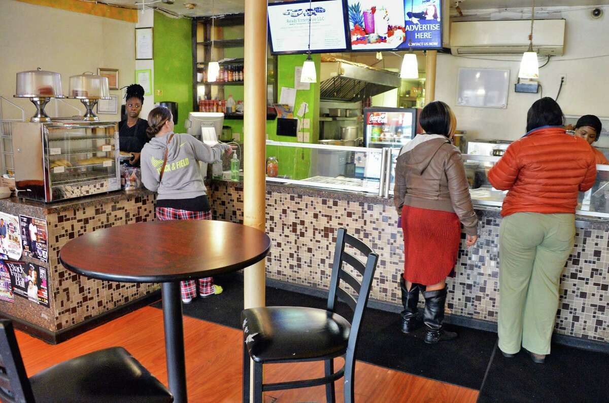 Interior of the Irie Vybez restaurant on Central Avenue Tuesday Nov. 7, 2017 in Albany, NY. (John Carl D'Annibale / Times Union)