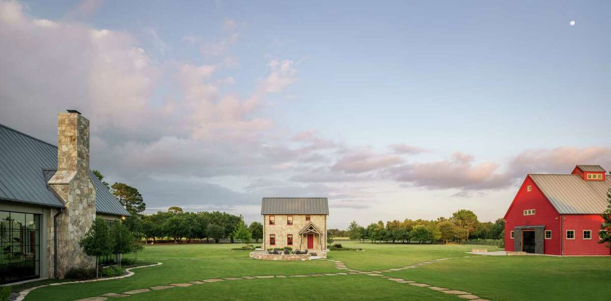 The Tucker family's Waller ranch includes a main house, guest house, wine building, barn, golf course, skeet shooting range, bocce ball court and plenty of lakes for water sports.
