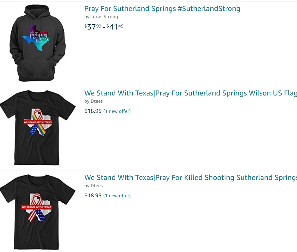 Whole Towns For Sale Pray For Sutherland Springs Merchandise Already For Sale