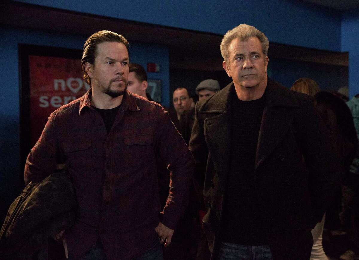 This image released by Paramount Pictures shows Mark Wahlberg, left, and Mel Gibson in