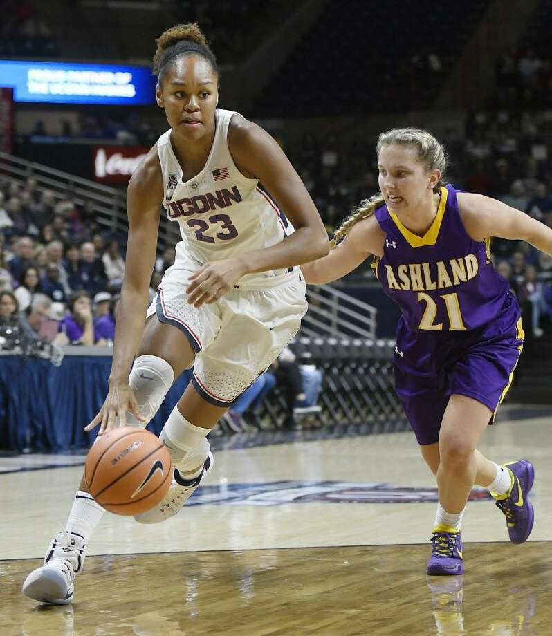 Duke transfer Azurá Stevens will likely be one of the Huskies' top reserve players. Photo: Jessica Hill / Associated Press / AP2017