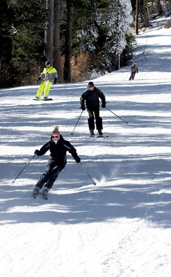 Skiers enjoy the snow at Mount Rose Ski-Tahoe resort above Reno. Photo: Michael Macor, The Chronicle