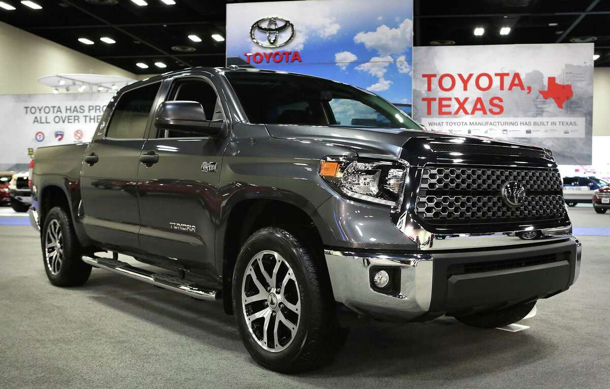 Sales of the full-size Tundra pickup, which is built in San Antonio, have also been rising, with March sales up by 1,000 vehicles, or 14.3 percent. First quarter sales have increased by more than 3,000 pickups, or 13.3 percent. A Toyota Tundra at the San Antonio Auto and Truck Show at the Henry B. Gonzalez Convention Center, on Thursday, Nov. 9, 2017.