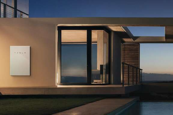 Tesla's Powerwall is a big house battery that stores energy from solar panels during the day for use at night when the sun is down.