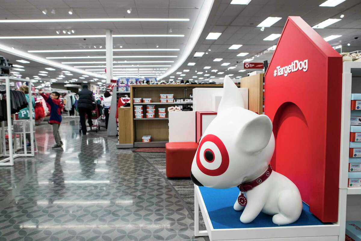 Bullseye the Target Dog is shown at the new Target store on Thursday, Nov. 9, 2017, in Richmond.