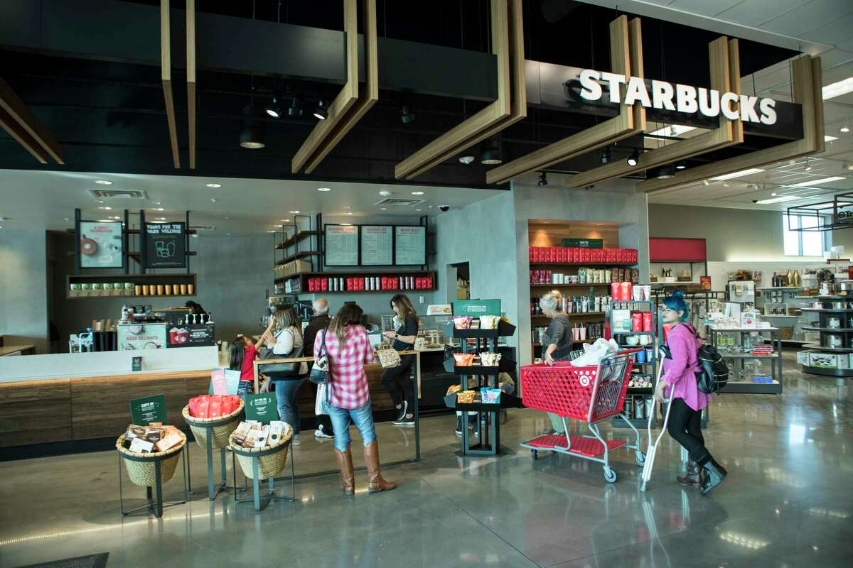 A Starbucks is shown inside the new Target store on Thursday, Nov. 9, 2017, in Richmond.