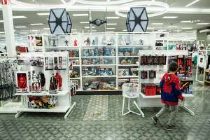 A section with Star Wars items at the new Target store is shown on Thursday, Nov. 9, 2017, in Richmond. ( Brett Coomer / Houston Chronicle )