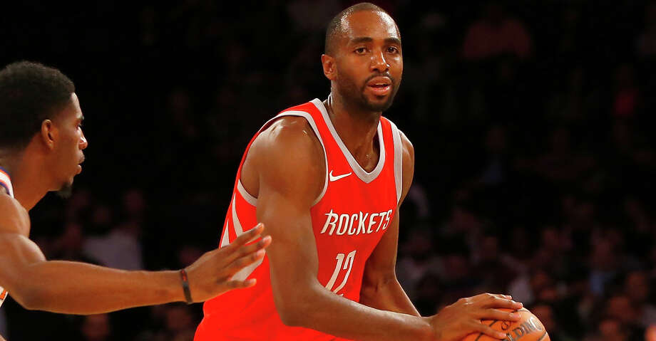 PHOTOS: Rockets game-by-gameRockets forward Luc Mbah a Moute was held out of Thursday's game against the Cavaliers because of the bruised left knee that limited him to 14 minutes on Sunday against the Jazz.Browse through the photos to see how the Rockets have fared through each game this season. Photo: Jim McIsaac/Getty Images