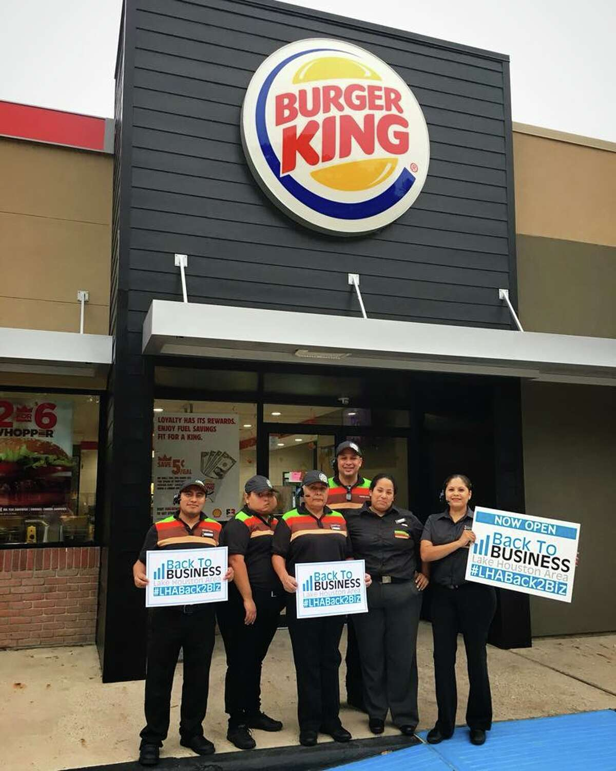Burger King in Kingwood is back in business.