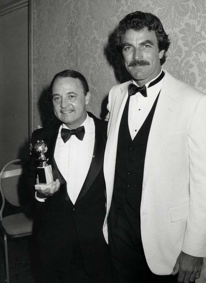 John Hillerman and Tom Selleck during 39th Annual Golden Globe Awards at Beverly Hilton Hotel in Beverly Hills, California, United States. (Photo by Ron Galella/WireImage) Photo: Ron Galella/WireImage