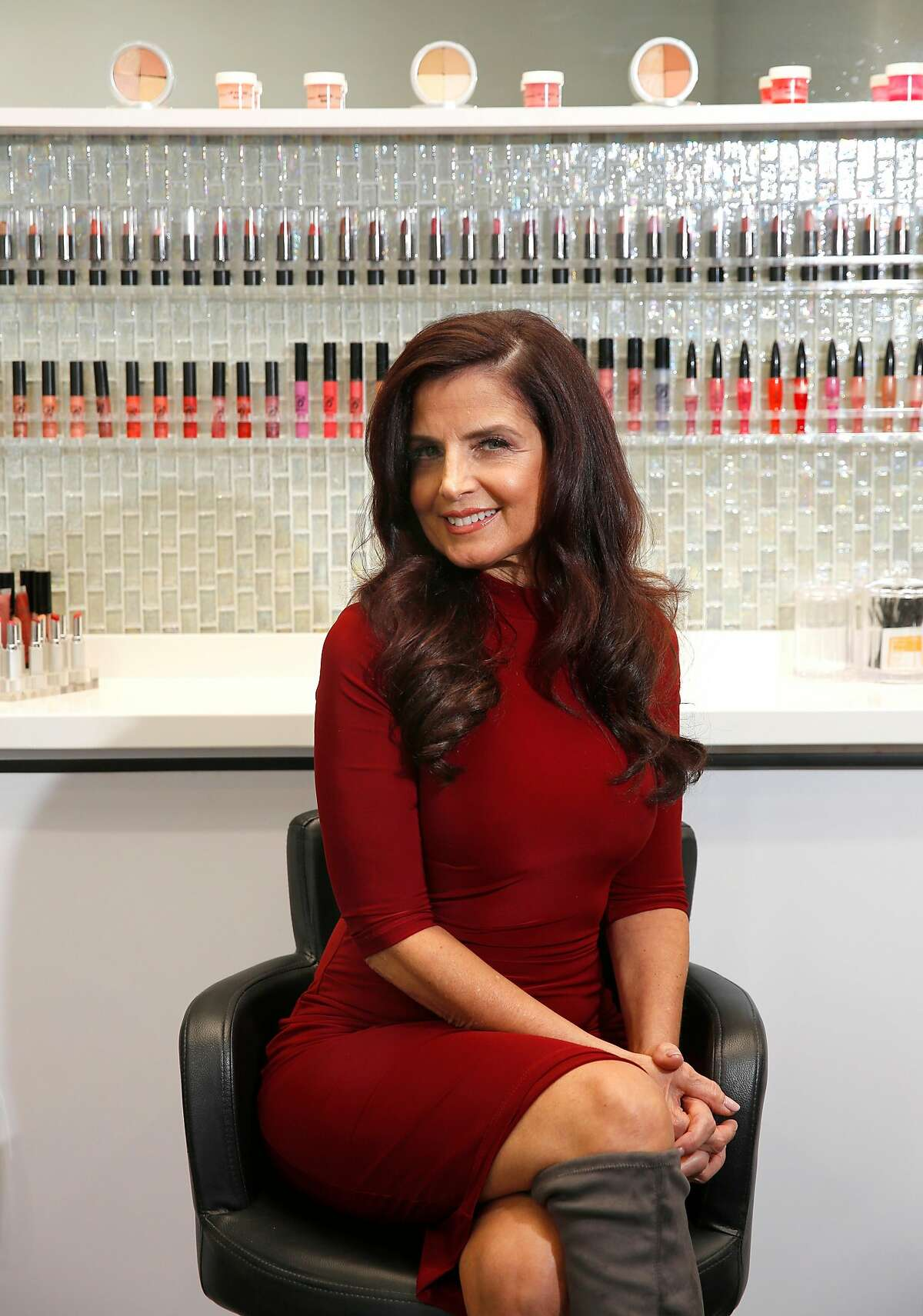 Stephanie Belleci is the creator of the Belleci Color Control Anti-Aging Foundation System, seen at Salon One in Alamo, Ca. on Tuesday October 31, 2017.