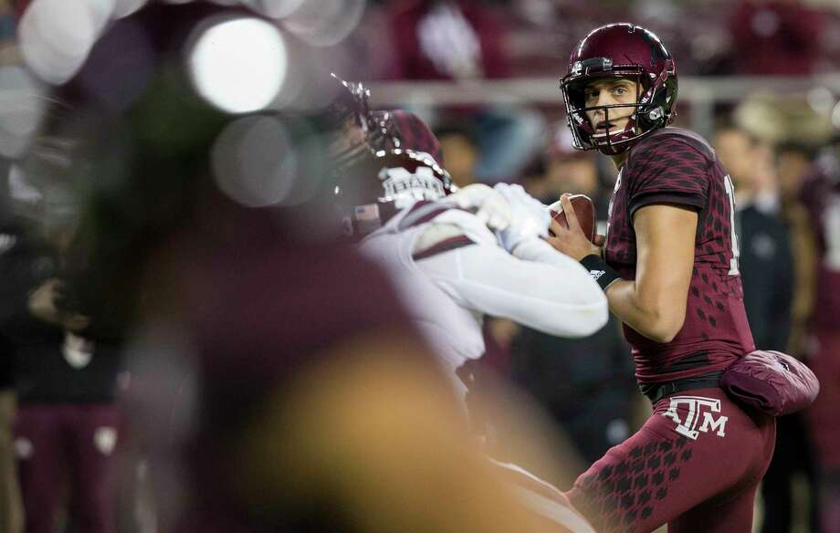 Texas A&M quarterback Nick Starkel saw some playing time against Mississippi State, but he'll be the starter against New Mexico. Photo: Sam Craft, FRE / AP