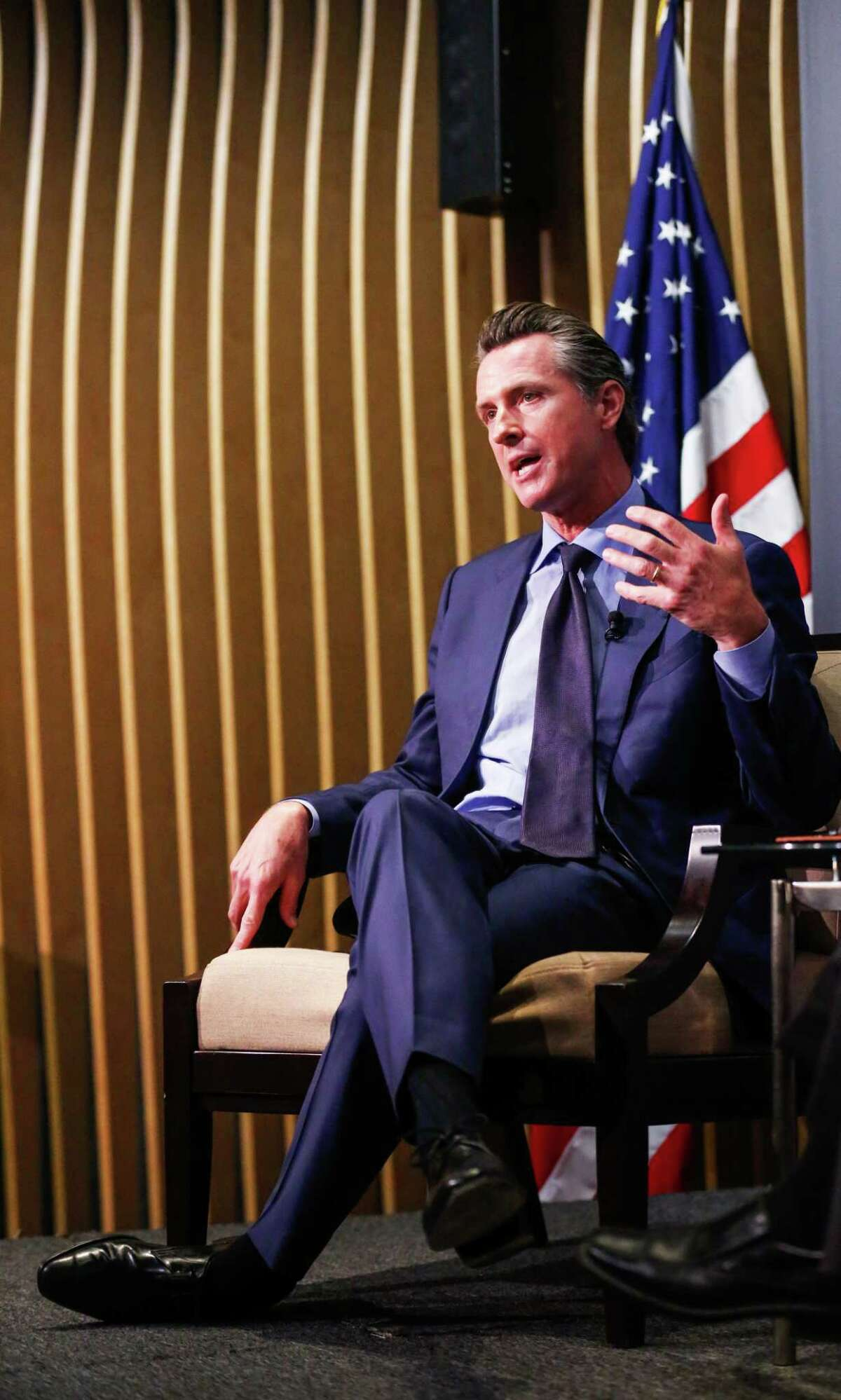 """Lt. Gov. Gavin Newsom says that if he is elected, he'll make the """"hard choices"""" needed to cope with a changing California."""