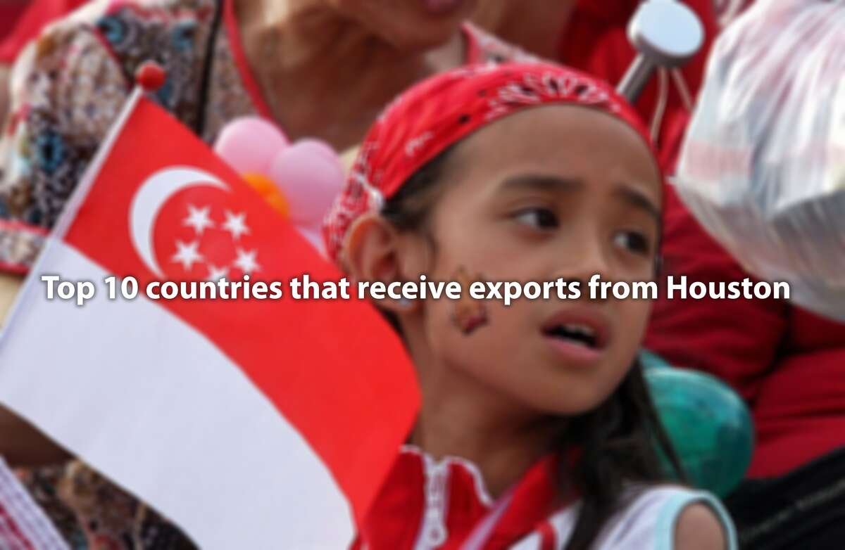 >> See which countries receive the most exports from Houston...