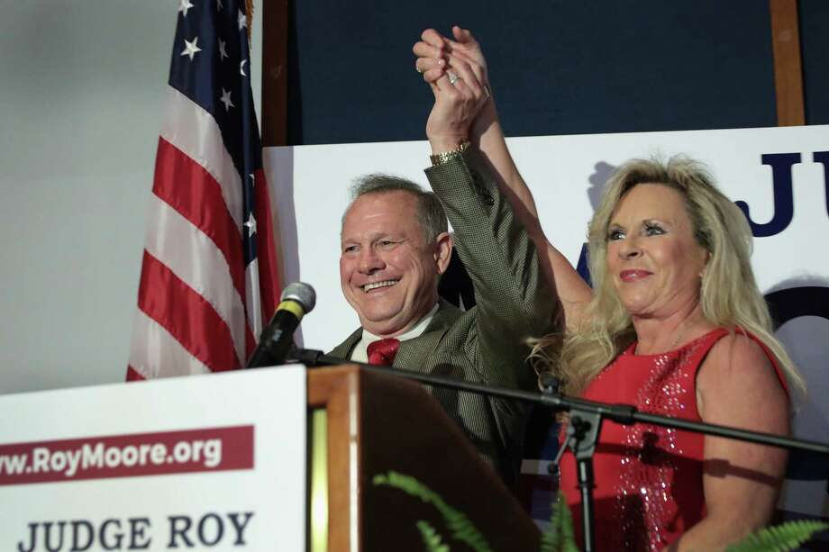 Alabama Judge Roy Moore made his political fortune promoting himself as the kind conservative Christian with little love for those who didn't hold the beliefs he espoused. Now, as molestation allegations against him swirl, he's poised to join a different club -- right-wing bible beaters with troubling secrets. Photo: Scott Olson / 2017 Getty Images