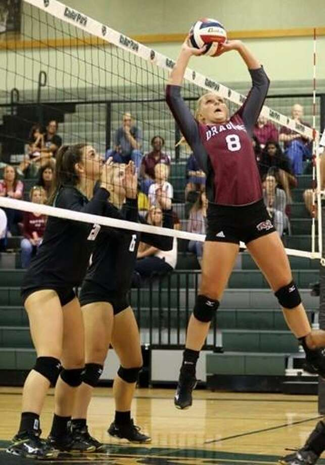 Maison Kosse (8) and Rio Orion (11) became the first two players in the 2018 TAMIU recruiting class on Thursday signing their respective National Letters of Intent. Kosse is a setter from Round Rock High School while Orion is a outside hitter and middle blocker from Bandera High School. Photo: Courtesy Photos