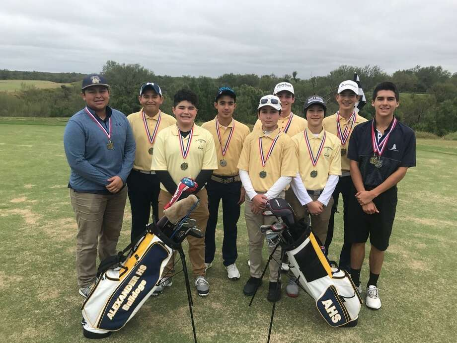 Alexander golf had a successful day at the Max A. Mandel Golf Course Thursday as the boys' Gold and Blue teams swept the top two spots while the Lady Bulldogs also placed first in the girls' division. Photo: Courtesy Of Alexander Athletics