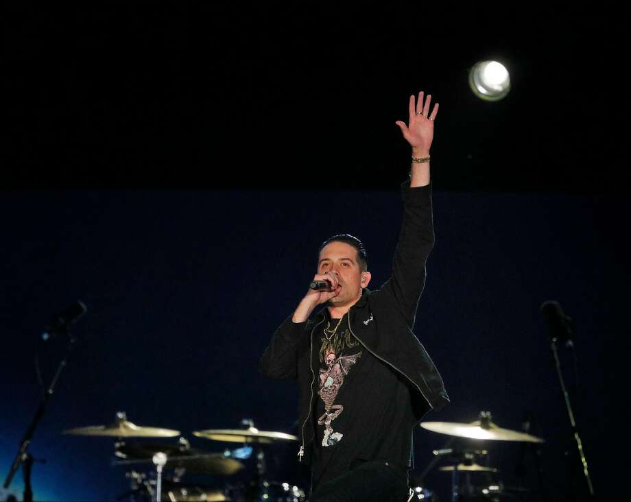G-Eazy performs during the Band Together Bay Area benefit concert at AT&T Park in San Francisco Calif., Thursday, November 9, 2017. The concert was a benefit for the Tipping Point Emergency Relief Fund for North Bay fire relief. Photo: Carlos Avila Gonzalez, The Chronicle