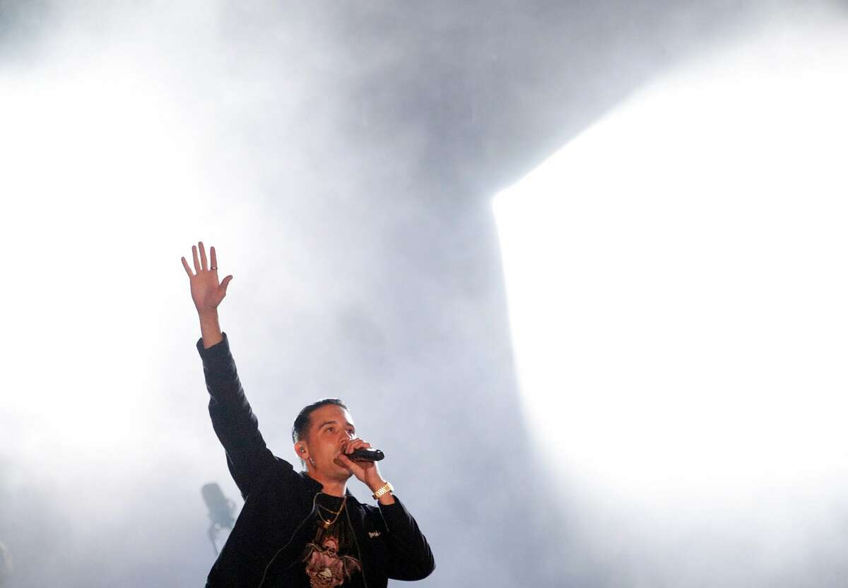 G-Eazy performs during the Band Together Bay Area benefit concert at AT&T Park in San Francisco on November 9, 2017.