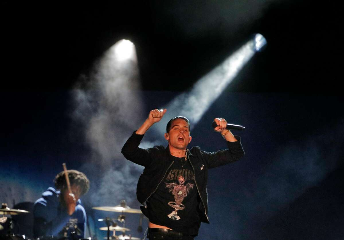 G-Eazy performs during the Band Together Bay Area benefit concert at AT&T Park in San Francisco Calif., Thursday, November 9, 2017. The concert was a benefit for the Tipping Point Emergency Relief Fund for North Bay fire relief.