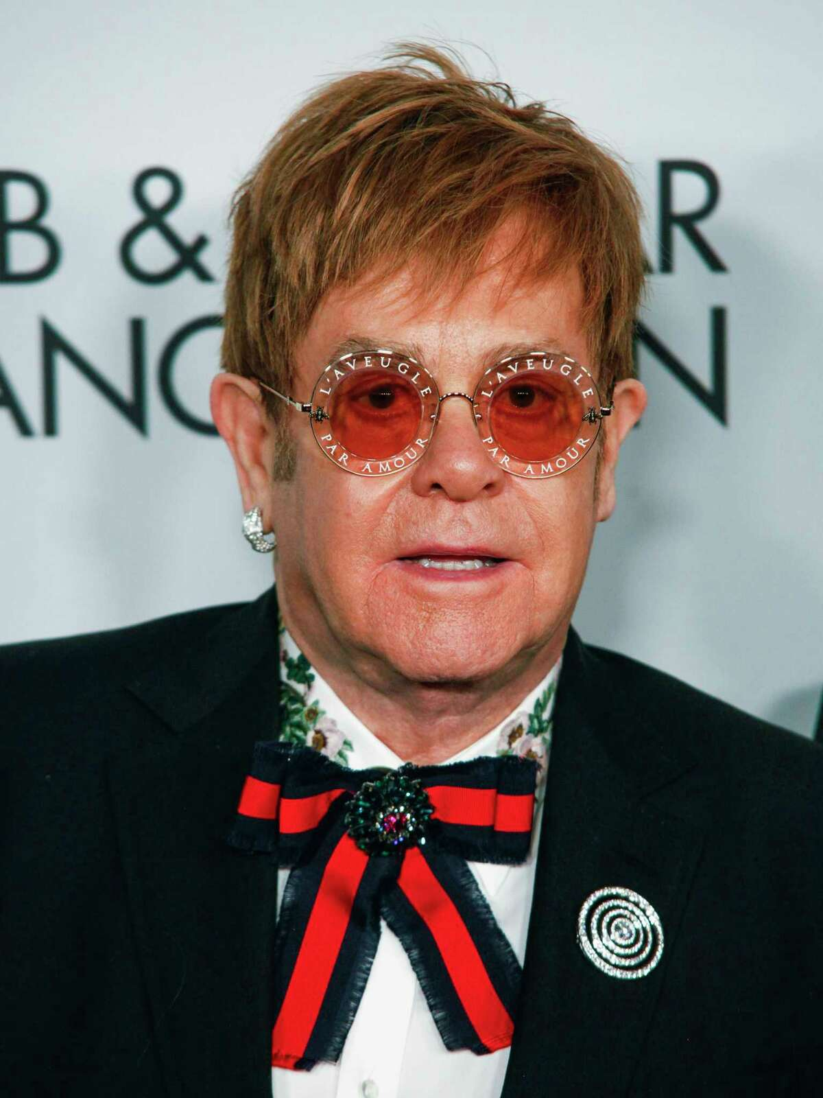 Elton John attends the Elton John AIDS Foundation's 25th Anniversary Gala at The Cathedral of St. John the Divine on Tuesday, Nov. 7, 2017, in New York. (Photo by Andy Kropa/Invision/AP) ORG XMIT: NYAK108