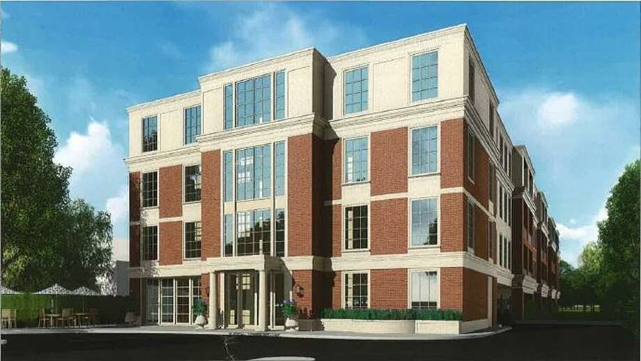 Artist rendering of the apartment building proposed for 143 Sound Beach Ave. in Old Greenwich, Conn. Photo: Contributed