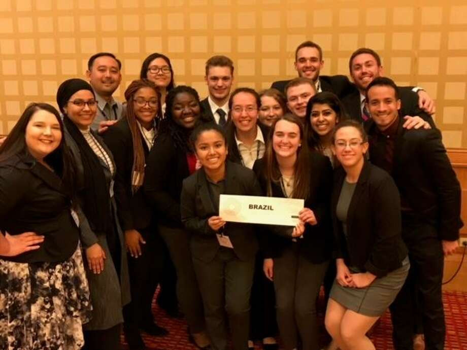 Members of the University of New Haven Model UN team Photo: CONTRIBUTED