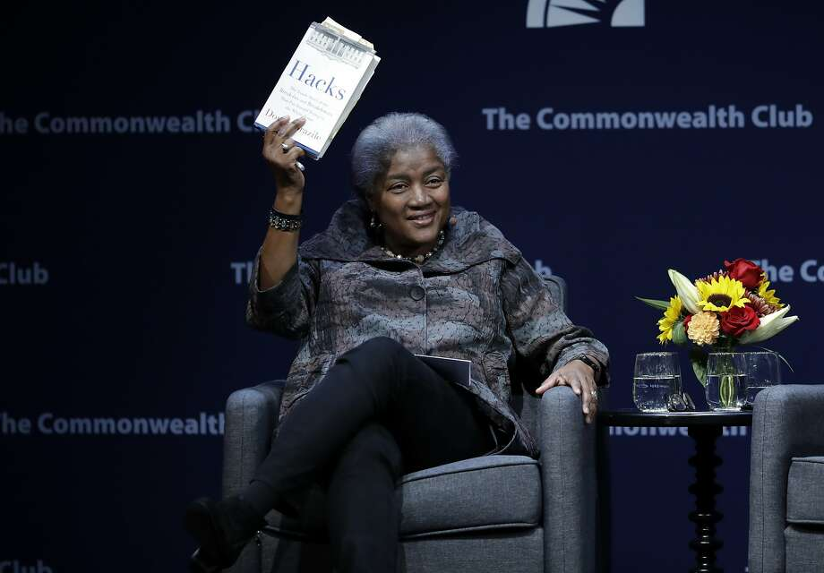 Former Democratic National Committee chair Donna Brazile speaks during a meeting of the Commonwealth Club in San Francisco Thursday. Photo: Marcio Jose Sanchez, Associated Press