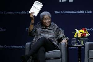 Former Democratic National Committee chair Donna Brazile speaks during a meeting of The Commonwealth Club Thursday, Nov. 9, 2017, in San Francisco. (AP Photo/Marcio Jose Sanchez)