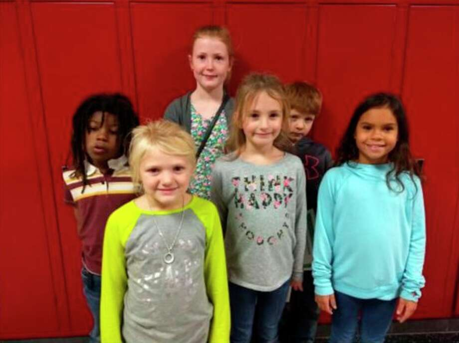 Front row from left: Neveah Stormzand, kindergarten; Ella Grates, 2nd grade; Braylyn Witt, 3rd grade Back row from left: Jha-Ke Murry, 1st grade; Payton McIlhargie, 4th grade; Bryce Michalski, 2nd grade Not pictured: Abbigail Putman, 5th grade (Submitted Photo)