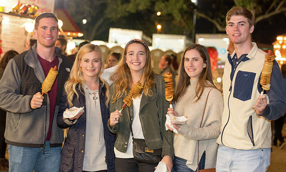 College night added an extra zing to Wurstfest in New Braunfels on Thursday, Nov. 9, 2017 for the annual 10-day salute to sausage, beer and so much more German culture. Photo: B. Kay Richter, For MySA.com
