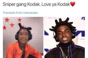 One social media post shows a United High School senior dressed in blackface as American rapper Kodak Black.