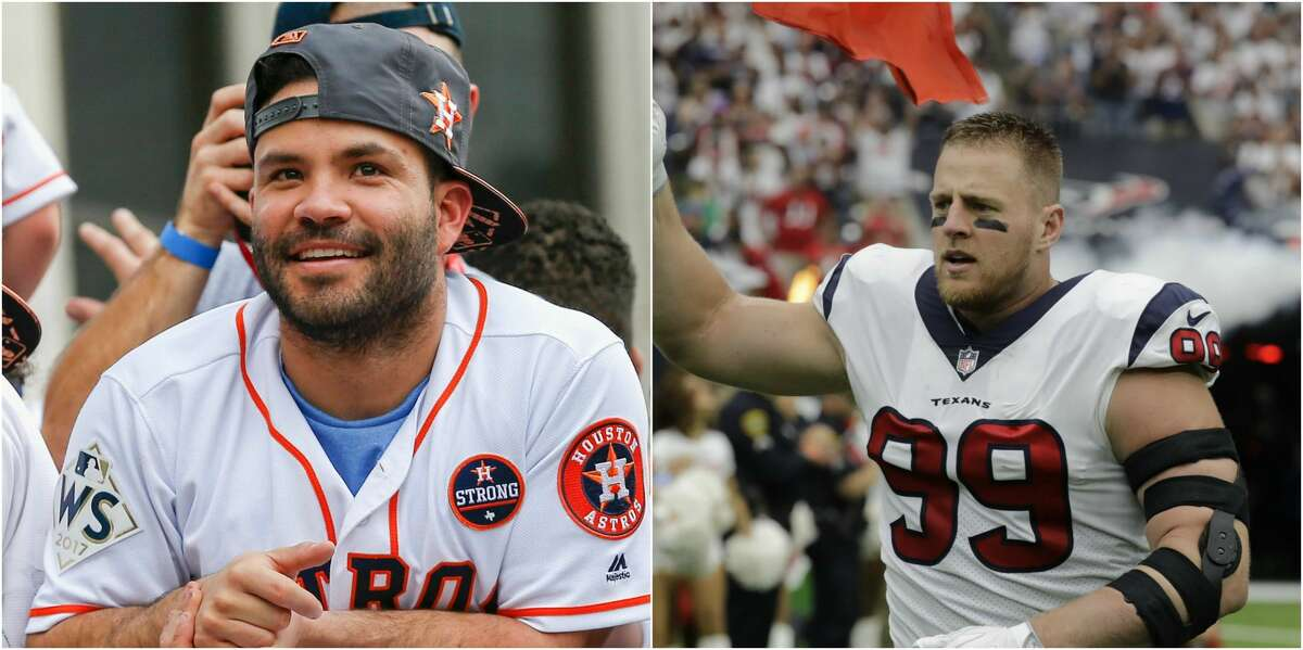 Injured Texans star J.J. Watt received an unexpected gift from Astros star Jose Altuve, thanking him for all he's done for the city this year.