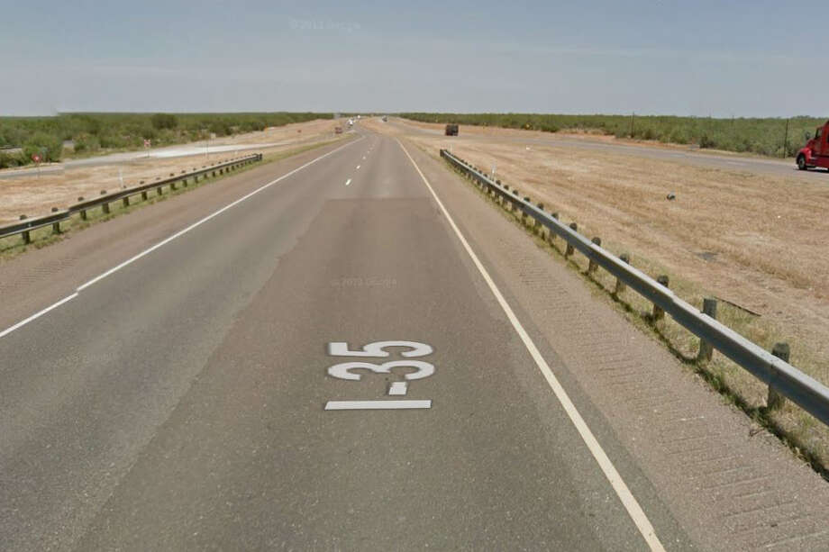 One woman said she witnessed a rollover on I-35 near Artesia Wells, Texas. Photo: Google Maps/Street View
