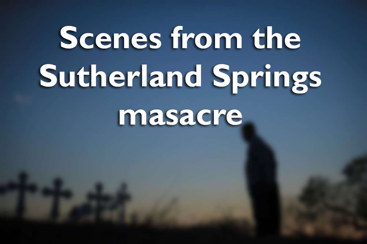 Swipe through to see photos from the Sutherland Springs massacre.