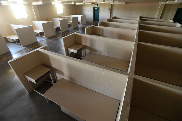 Sleeping quarters in one of the Al Price Juvenile Correctional Facility's dorms on Thursday. A faith-based organization is now renting the location with plans to reopen it as a social center and education facility for churches and social organizations. Photo taken Thursday, November 09, 2017 Guiseppe Barranco/The Enterprise