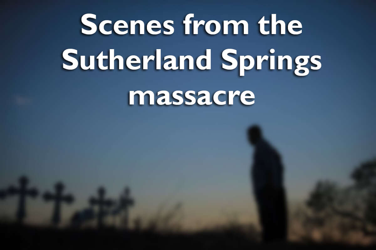 Swipe through to see photos from the Sutherland Springs shooting.