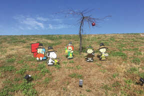 The Peanuts gang has changed costumes from Halloween to Thanksgiving. The display is on the berm on Governors' Parkway on the east side of Edwardsville. And from the looks of it, preparations are in the works for Christmas.