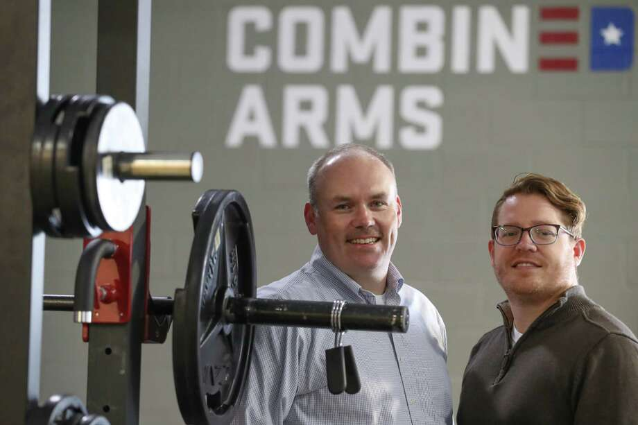 Kelly Land, executive director of Combined Arms, and Brian Wilson, creative technology officer, Thursday, Nov. 9, 2017, in Houston. Combined Arms is a one-stop-shop for veterans looks for assistance or jobs. The organization helps identify what services a veteran needs and connects them to the appropriate organization. ( Steve Gonzales / Houston Chronicle ) Photo: Steve Gonzales, Houston Chronicle / © 2017 Houston Chronicle