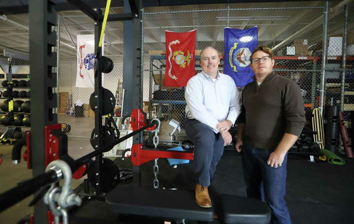 Kelly Land, executive director of Combined Arms, and Brian Wilson, creative technology officer, Thursday, Nov. 9, 2017, in Houston. Combined Arms is a one-stop-shop for veterans looks for assistance or jobs. The organization helps identify what services a veteran needs and connects them to the appropriate organization. ( Steve Gonzales / Houston Chronicle )