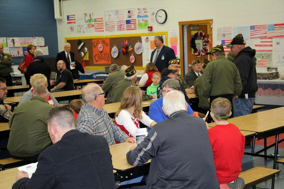 The community honored those who served our country during a Veterans Day program, Friday, at the Bad Axe Middle School. Photo: Seth Stapleton/Huron Daily Tribune