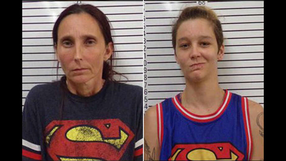 Patricia Spann and Misty Spann were arrested. >>>See some strange arrests that made headlines in Houston.  Photo: Stephens County Jail